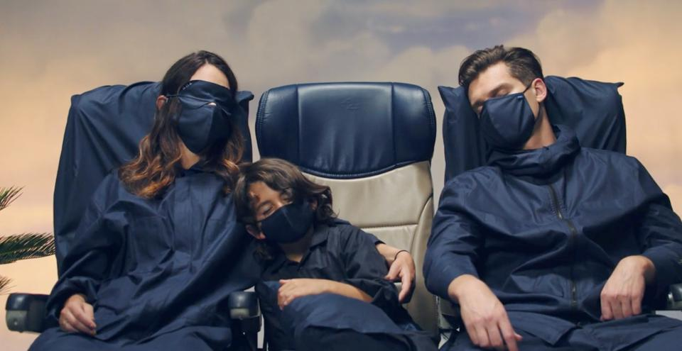 Better Off Alone Travel Kit including seat cover, blanket, mask