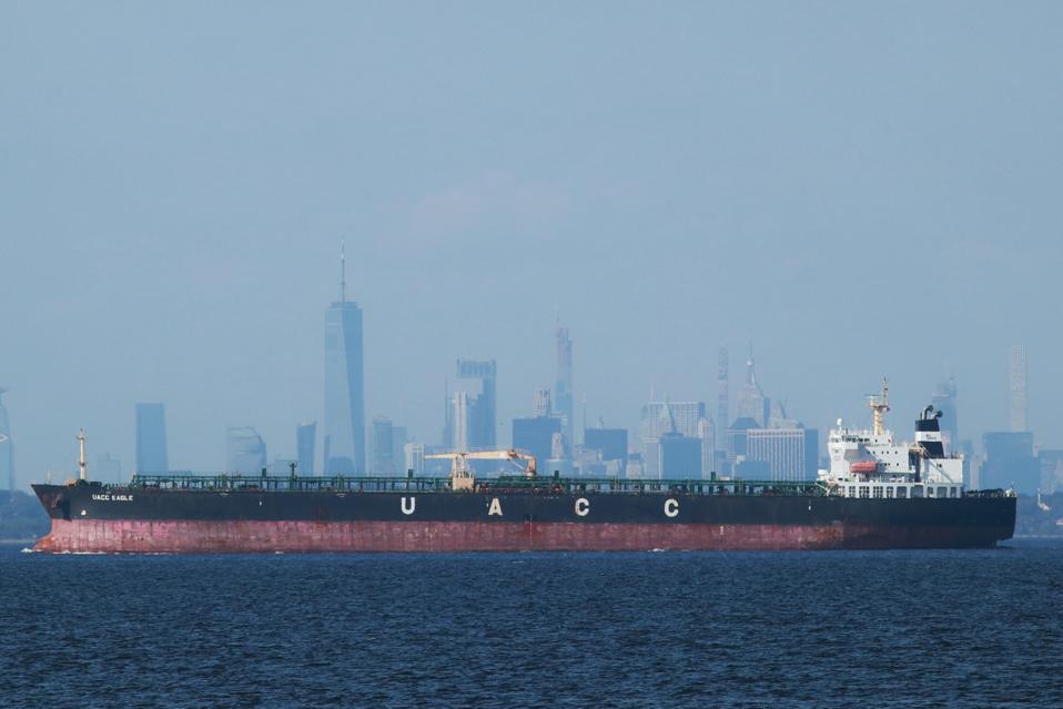UACC Eagle Oil Tanker Sails Past New York City