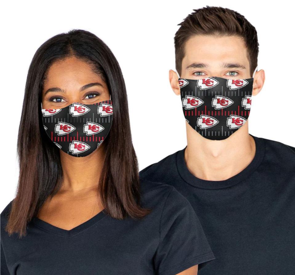Adult Kansas City Chiefs Face Masks