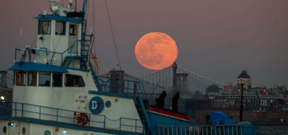 Full Wolf Moon en la ciudad de Nueva York