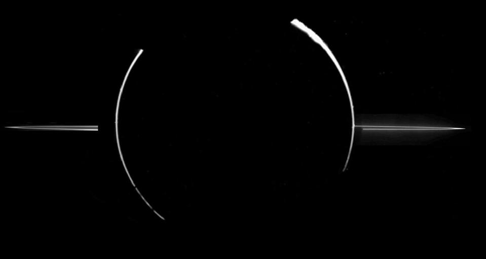 Data from the Galileo spacecraft that orbited Jupiter from 1995 to 2003 later confirmed that these rings were created by meteoroid impacts on small nearby moons.