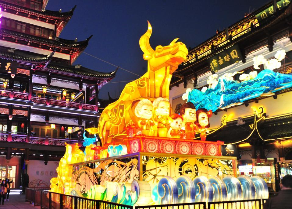 Esposizione della lanterna a Shanghai