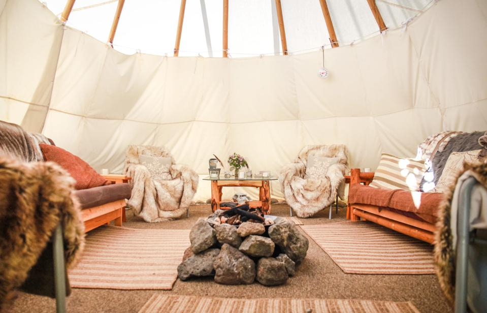 The tipi on the Snake River of Wyoming is comfortable and luxurious thanks to Black Tomato