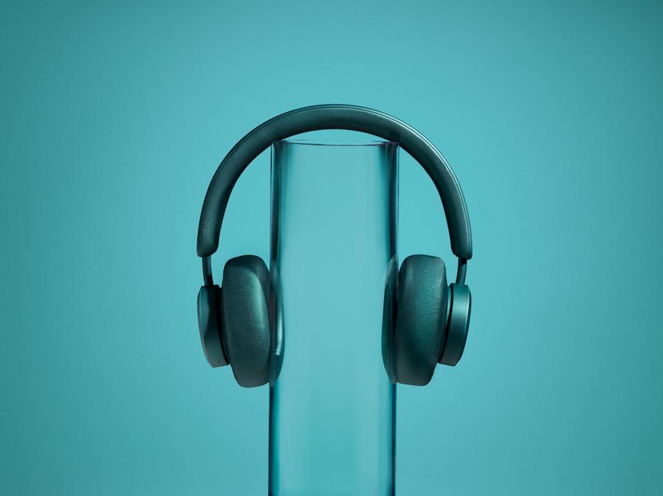 Teal coloured Miami headphones from Urbanista