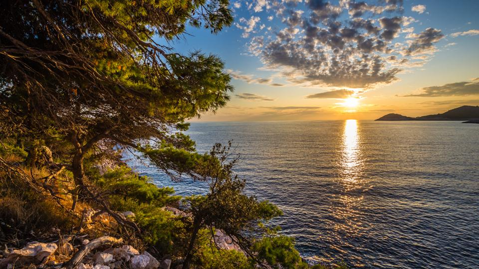 Sunset Above Sea - Mljet, Dalmatia, Croatia