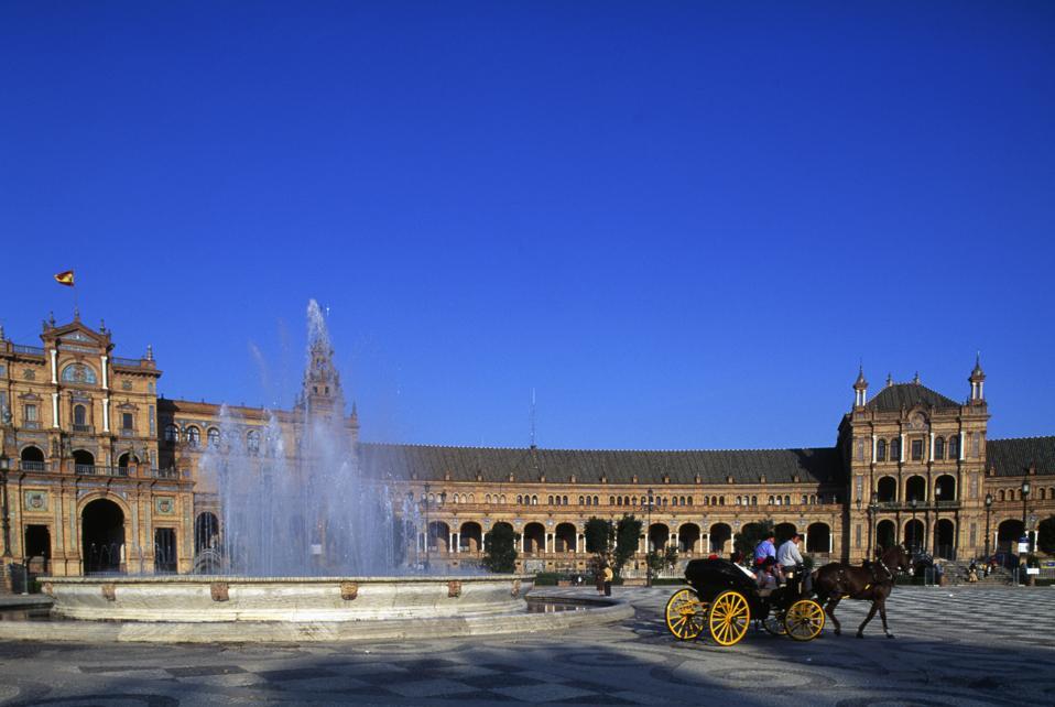 Plaza de Espana, Capitania General palace, Seville