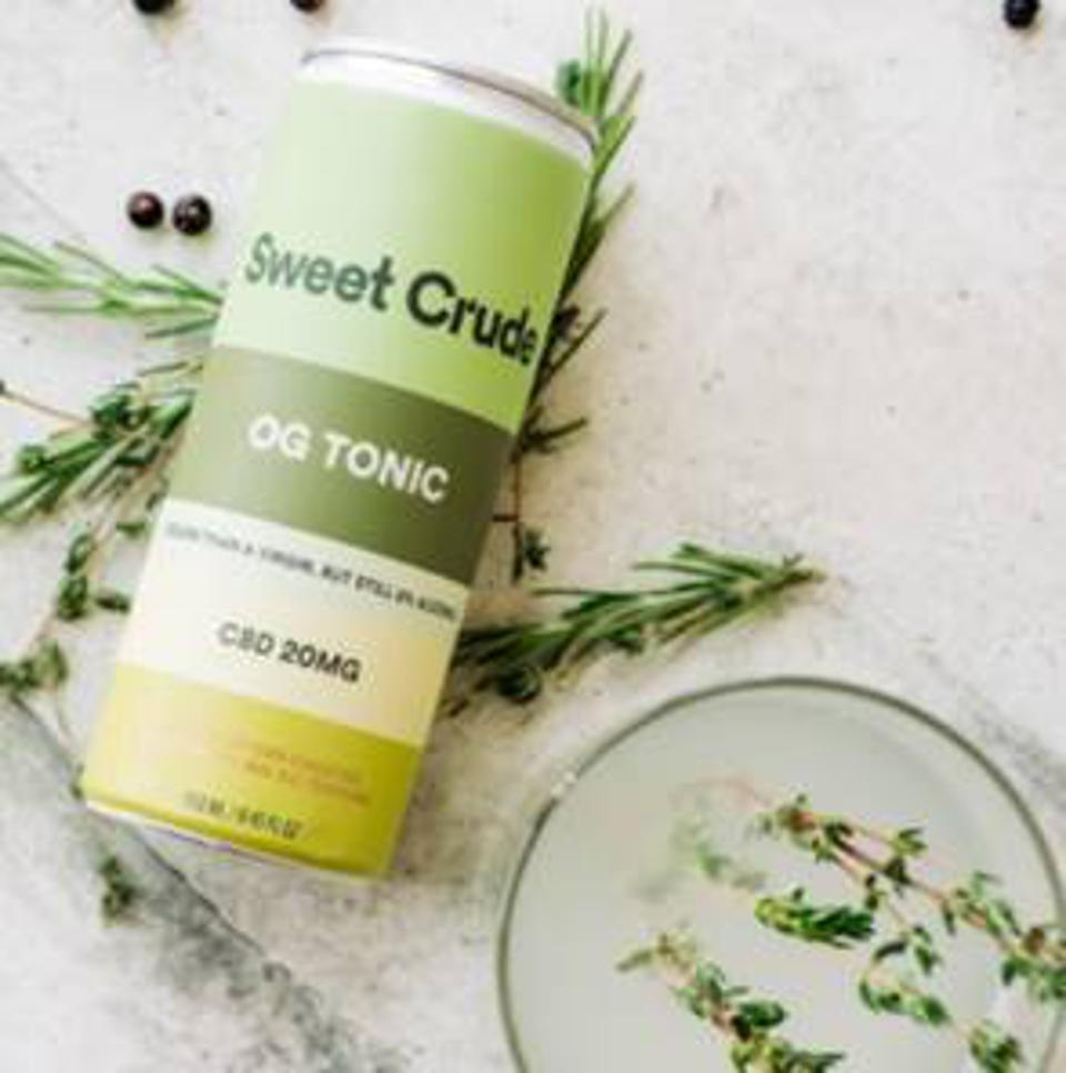 OG Tonic is one of two flavors of Sweet Crude nonalcoholic cocktails.