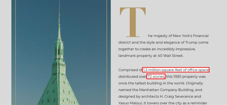 40 Wall Street website