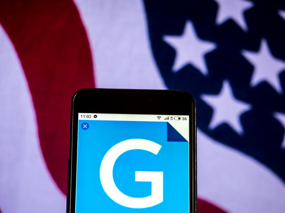 Gannett Media company logo seen displayed on a smart phone