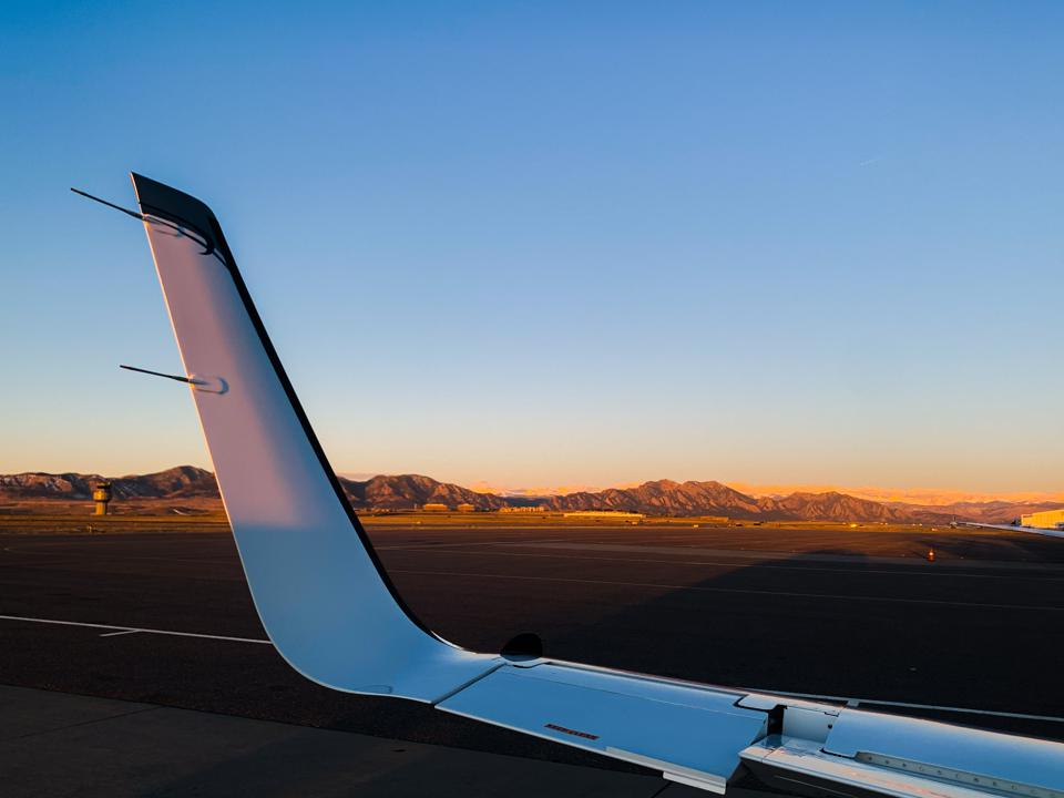 A view of Tamarack's winglet with its autonomous, active load alleviating aileron.
