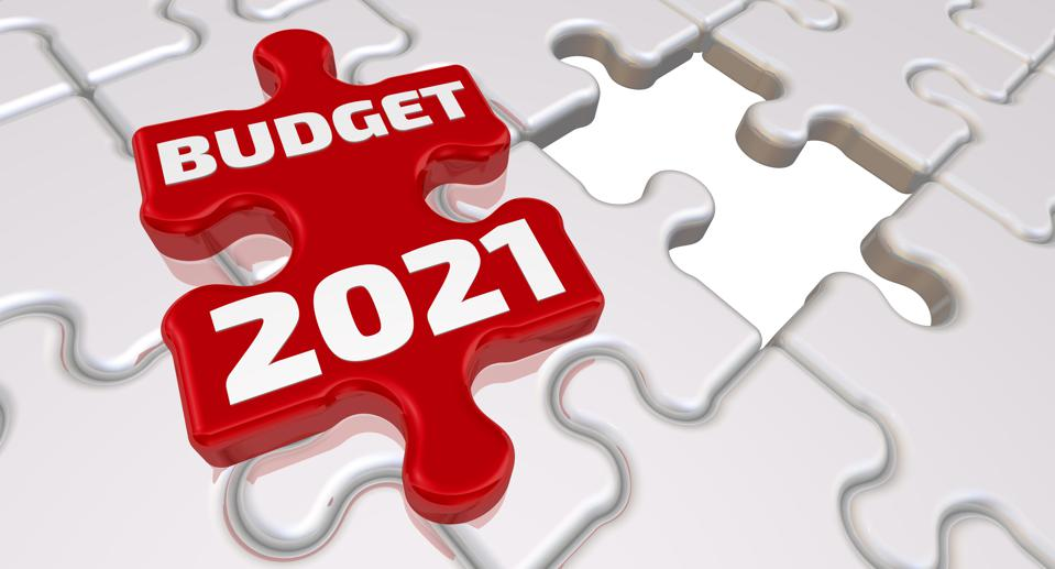 The budget of 2021. The inscription on the missing element of the puzzle