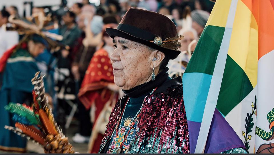 An image from the BAAITS 2020 Two-Spirit Powwow