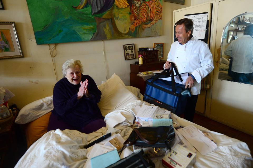 Daniel Boloud is giving a portion of the proceeds to a charity, Citymeals on Wheels, providing nourishing meals to homebound elderly New Yorkers.