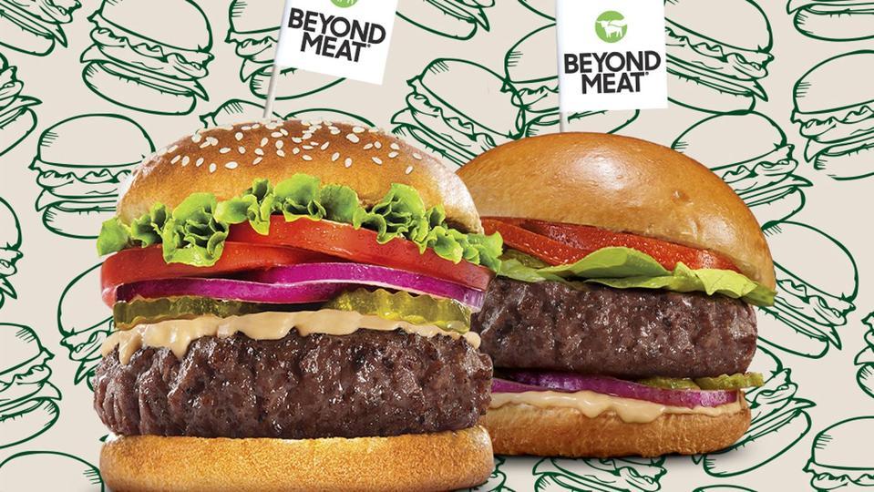 Juicy plant-based burgers