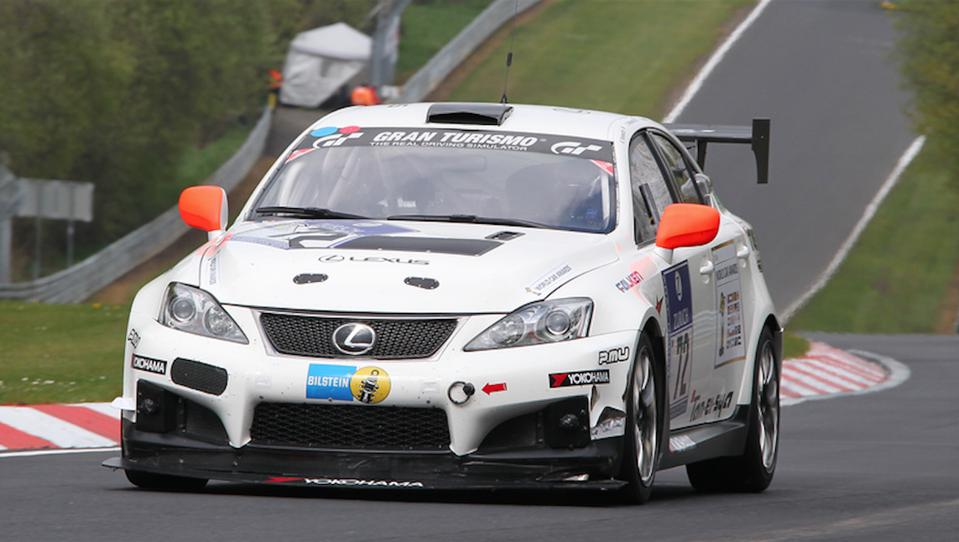 The Lexus IS-F my team drove in the 2010 Nurburgring 24-hours.