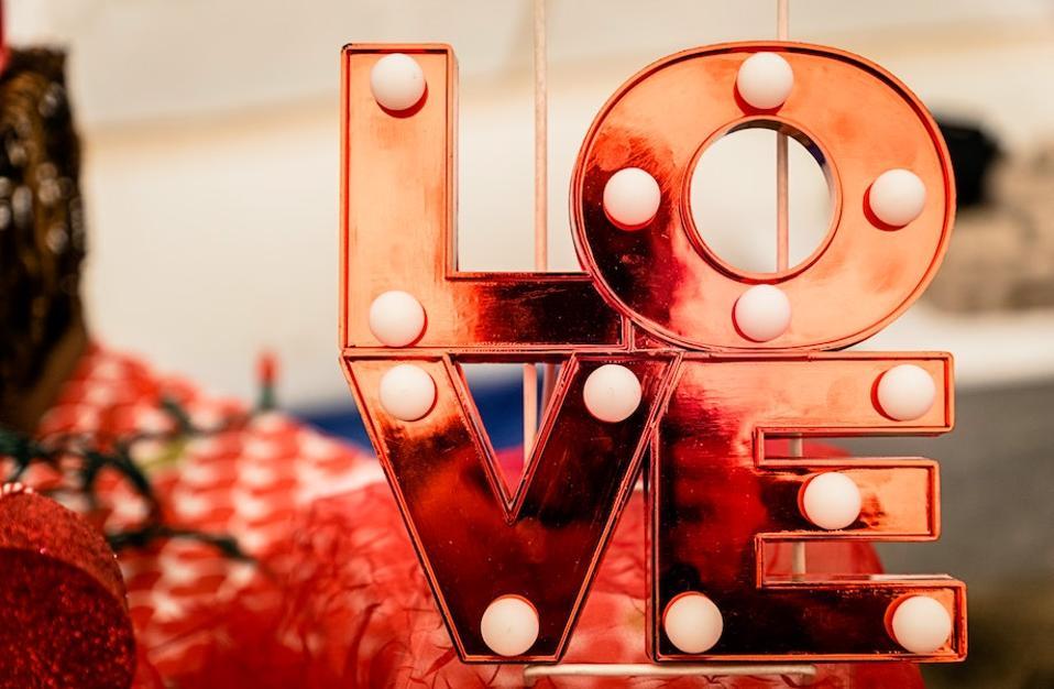 A LOVE word sculpture
