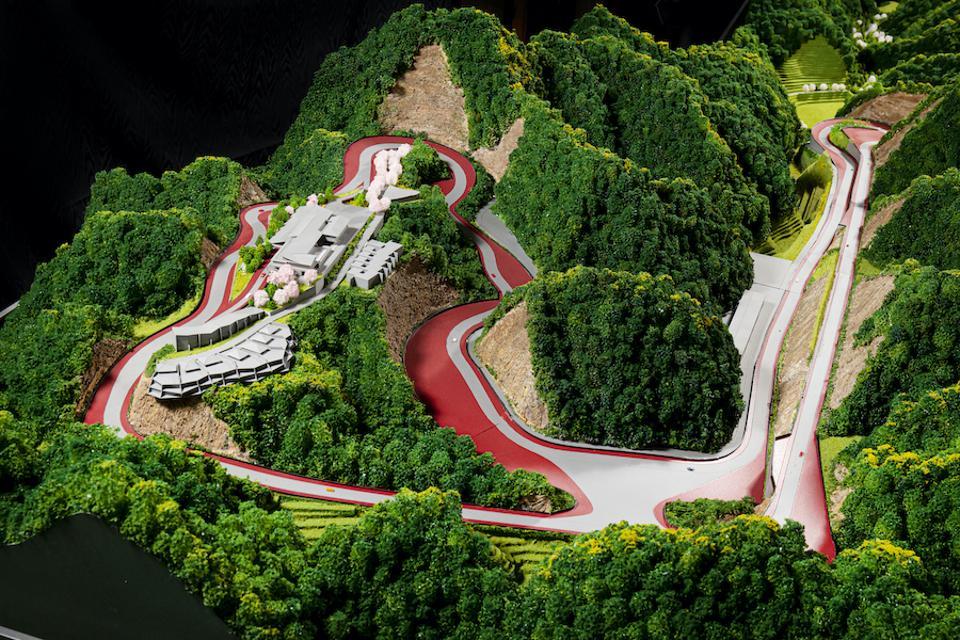 The 2.17 mile long Magarigawa Club track being built near Tokyo.