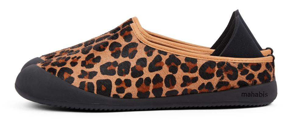 Mahabis Curve animal print slipper