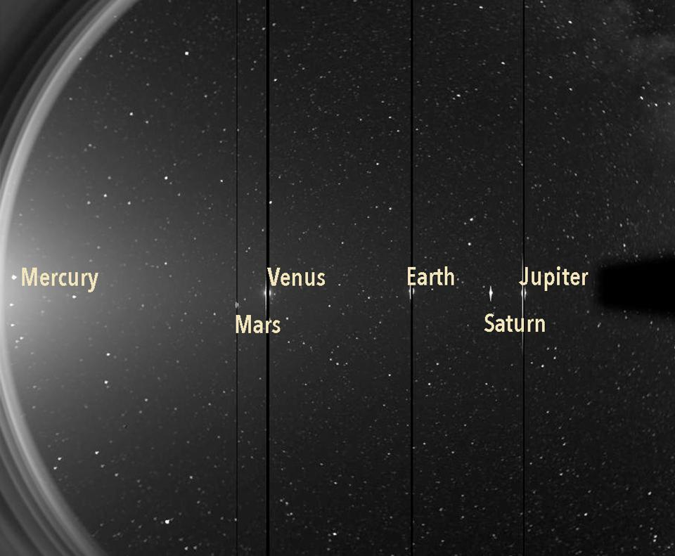 Sechs Planeten, ein Schuss.