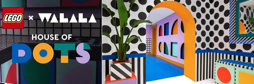 Colorful, Geometric Shape House of Dots Pop-Up with Lego For Their Lego Dots Product Line Launch