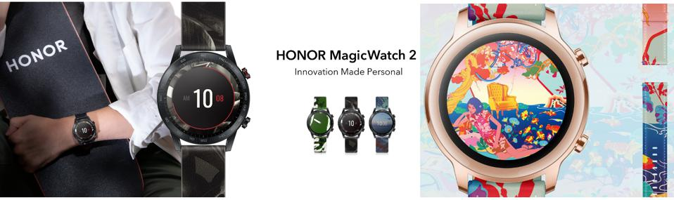Honor MagicWatch 2 Watch Collection With Bands And Watch Faces Designed By Global Artists