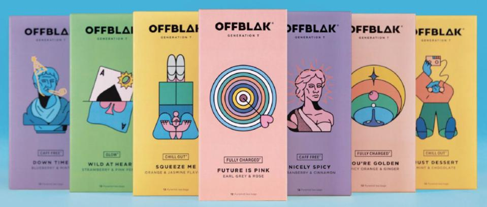 Unique Tea Packaging Colors and Design by Artist Thomas Hedget