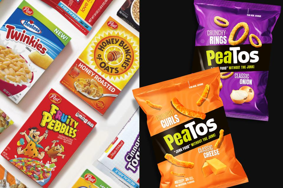 Cereal maker Post Holdings has invested $12.5 million in PeaTos.