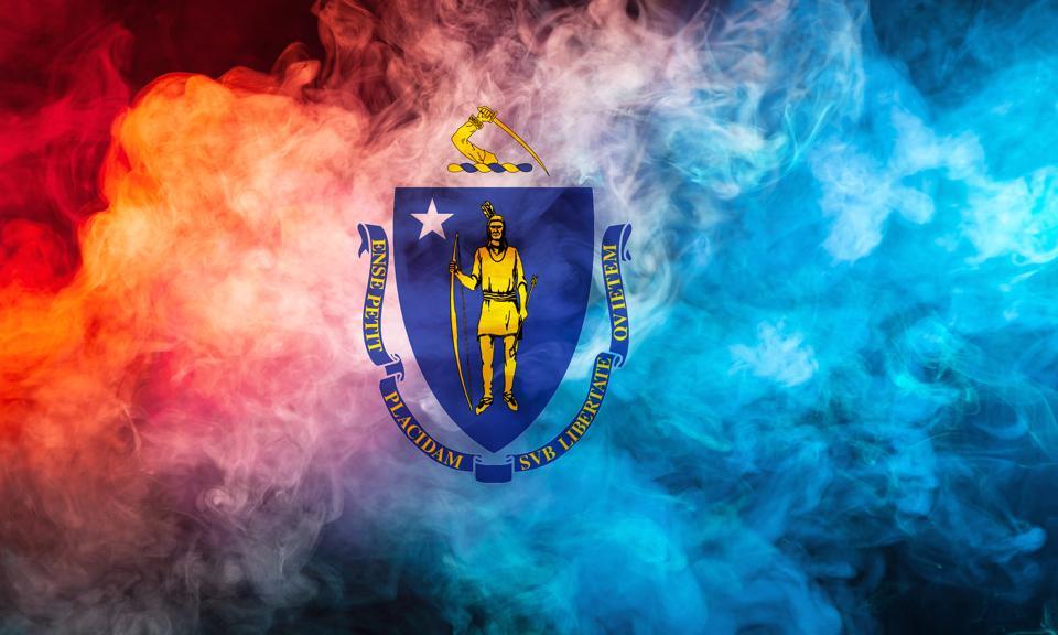 State flag of Massachusetts.