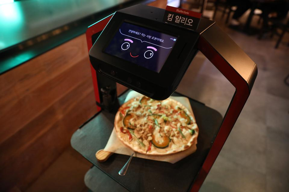 'AI Serving Robot' Launched To Help Reduce Human To Human Contact At Restaurants
