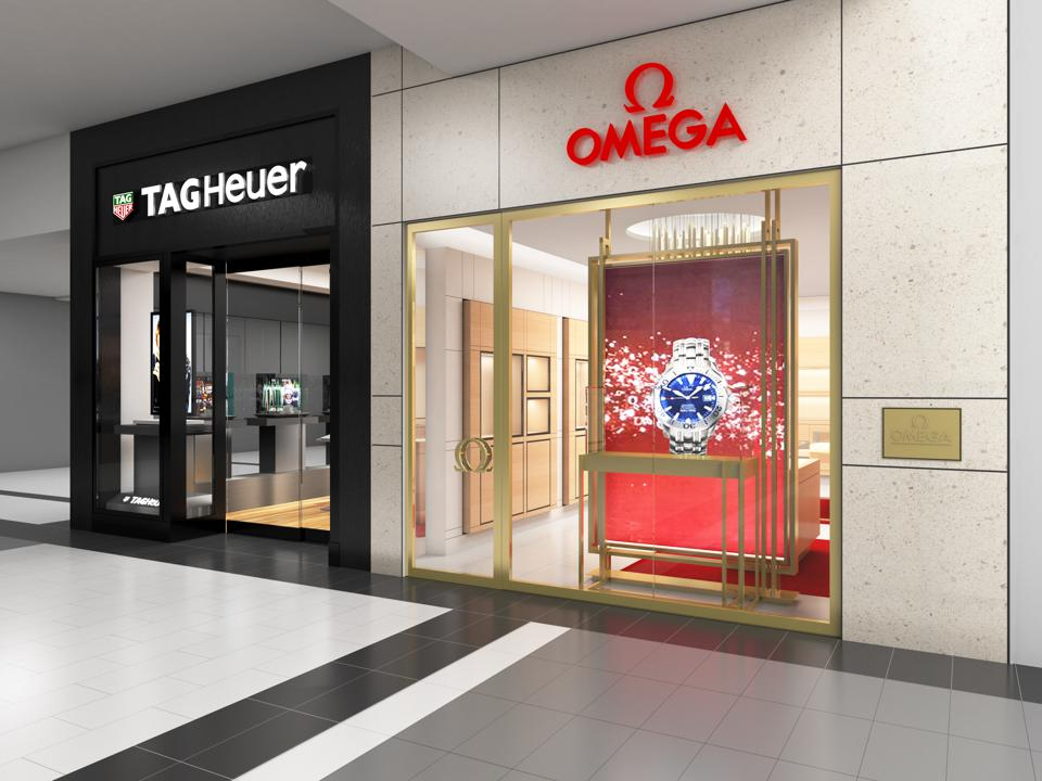 Planned Tag Heuer and Omega boutiques in Roosevelt Field mall in Garden City, N.Y.