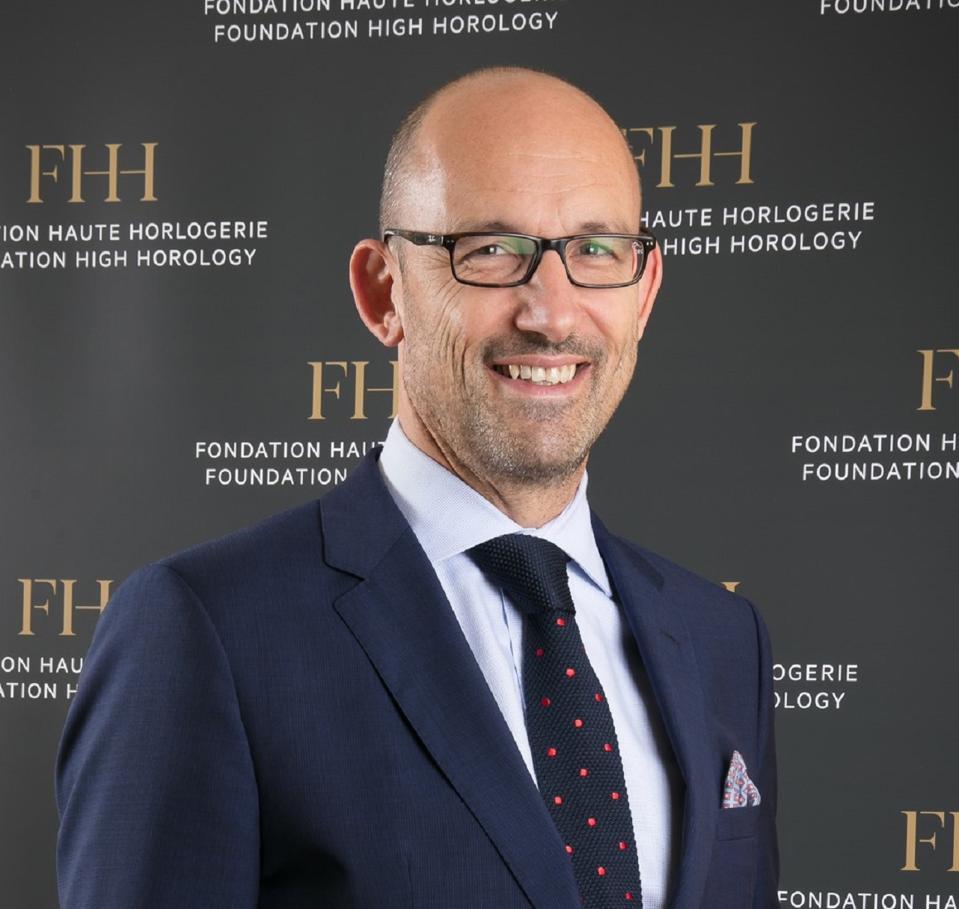 Pascal Ravessoud, external affairs director of the Fondation de la Haute Horlogerie