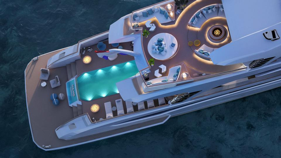Phi by Royal Huisman features a large pool.