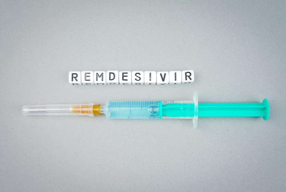 Remdesivir in a syringe.