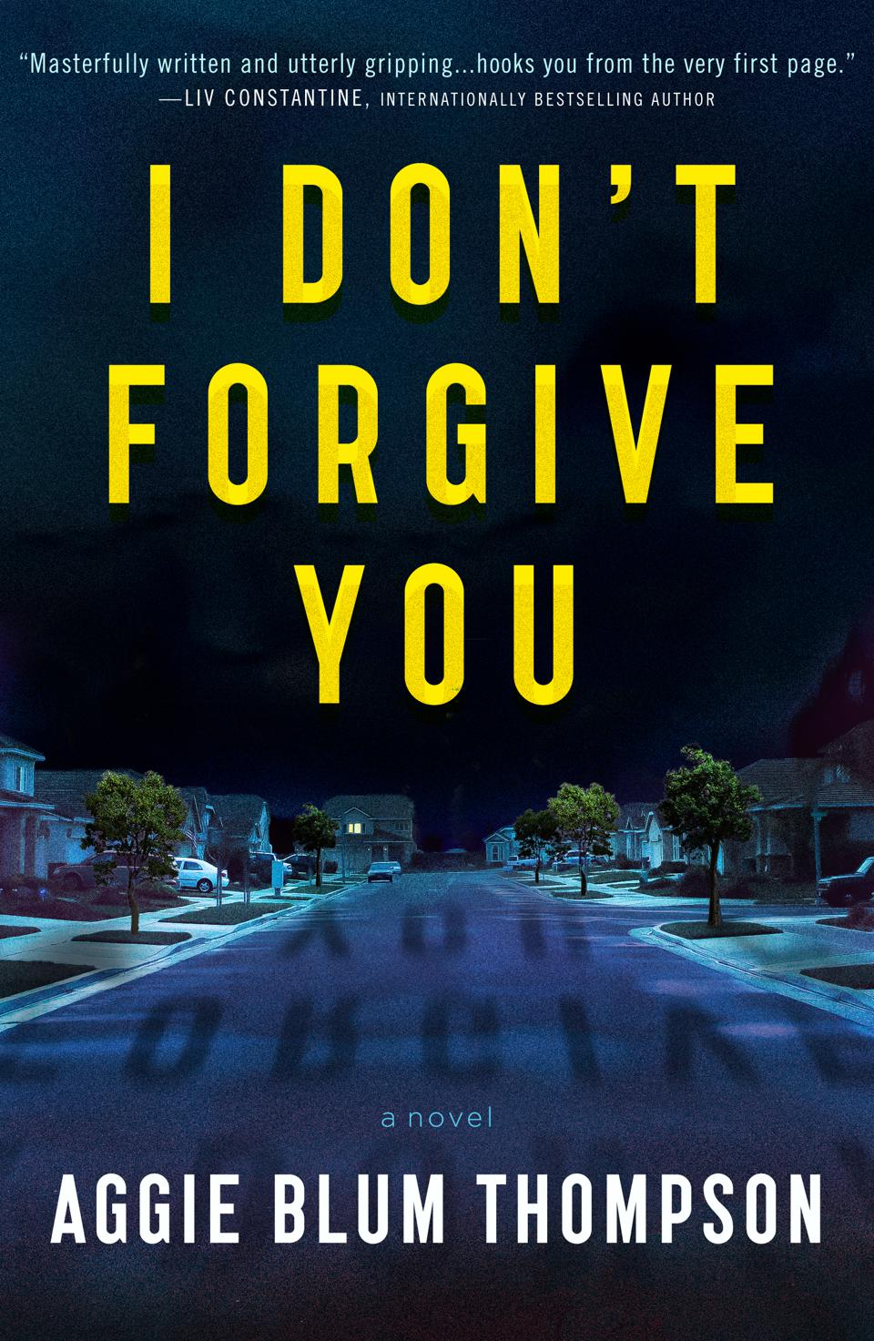 forge thriller I don't forgive you aggie blum thompson book cover novel fiction