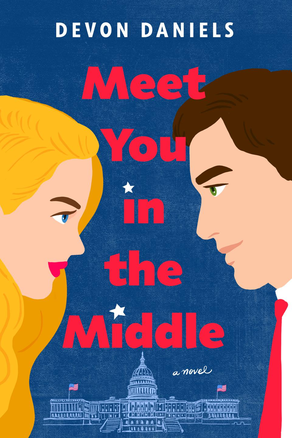devon daniels romance meet you in the middle debut author book cover berkley