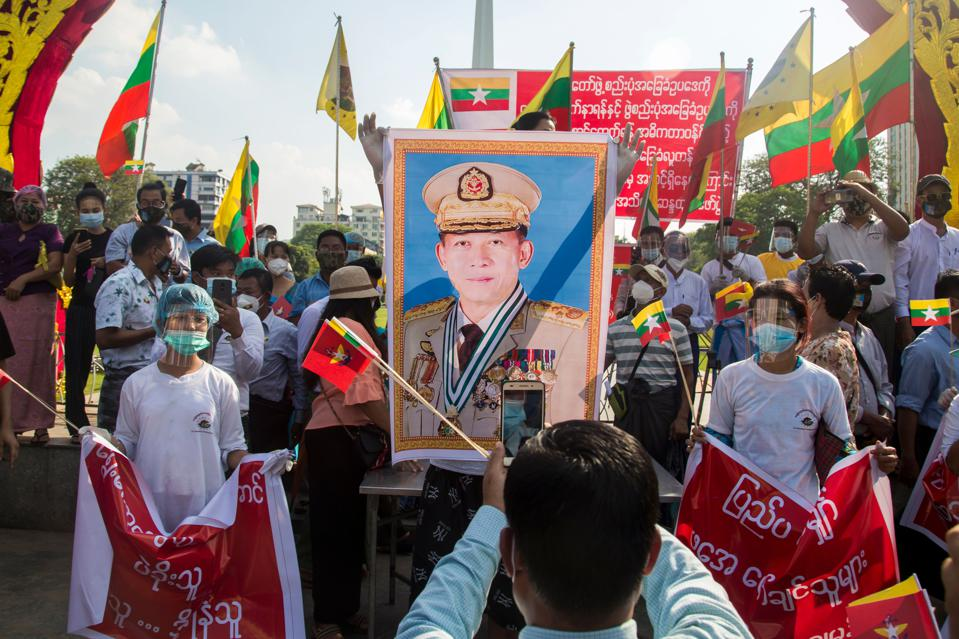 MYANMAR-MILITARY-ELECTION-PROTEST