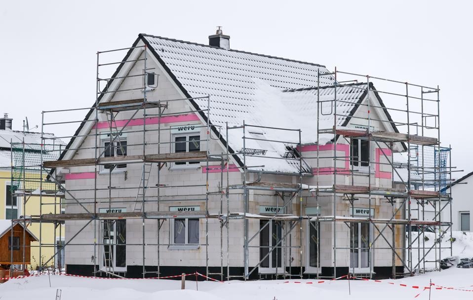 Home builders in winter