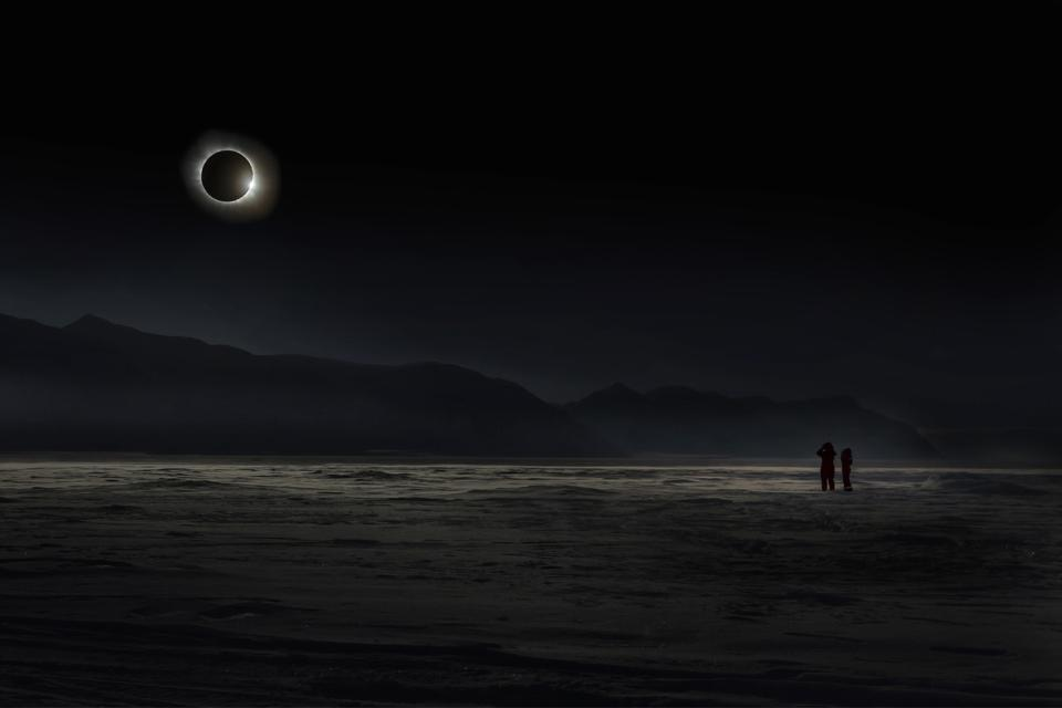 The total solar eclipse in Svalbard on March 20, 2015