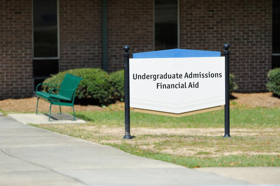 Undergraduate admissions financial aid sign