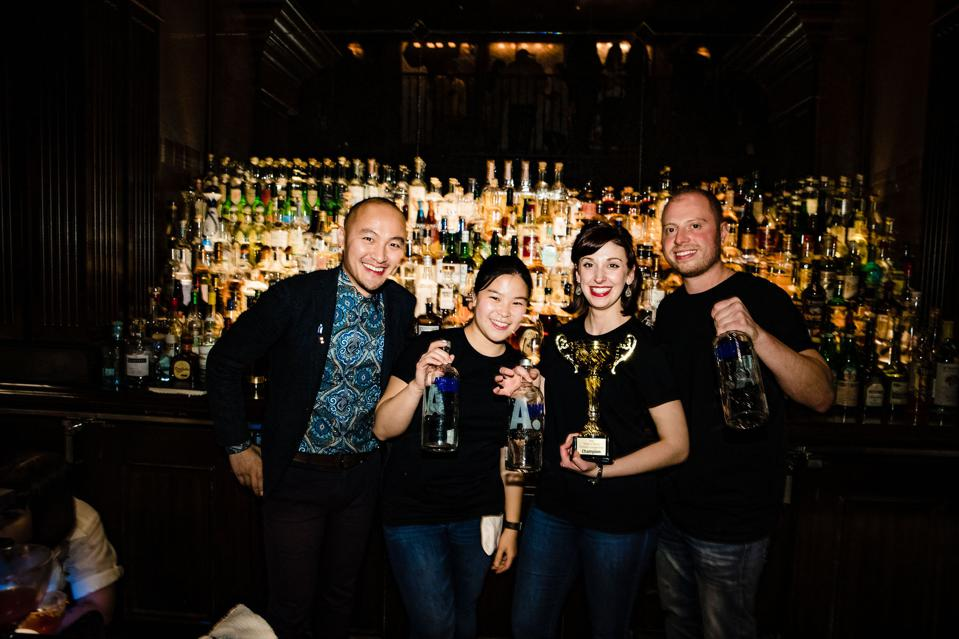 Pernod Ricard's John Tran with sustainable cocktailers