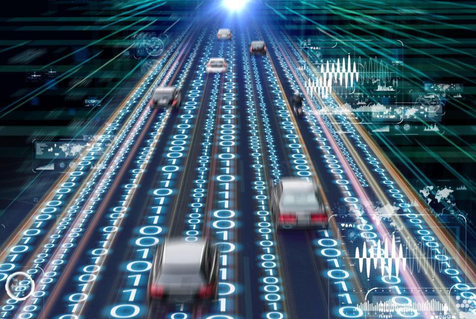 Traffic management system concept. Digital transformation.