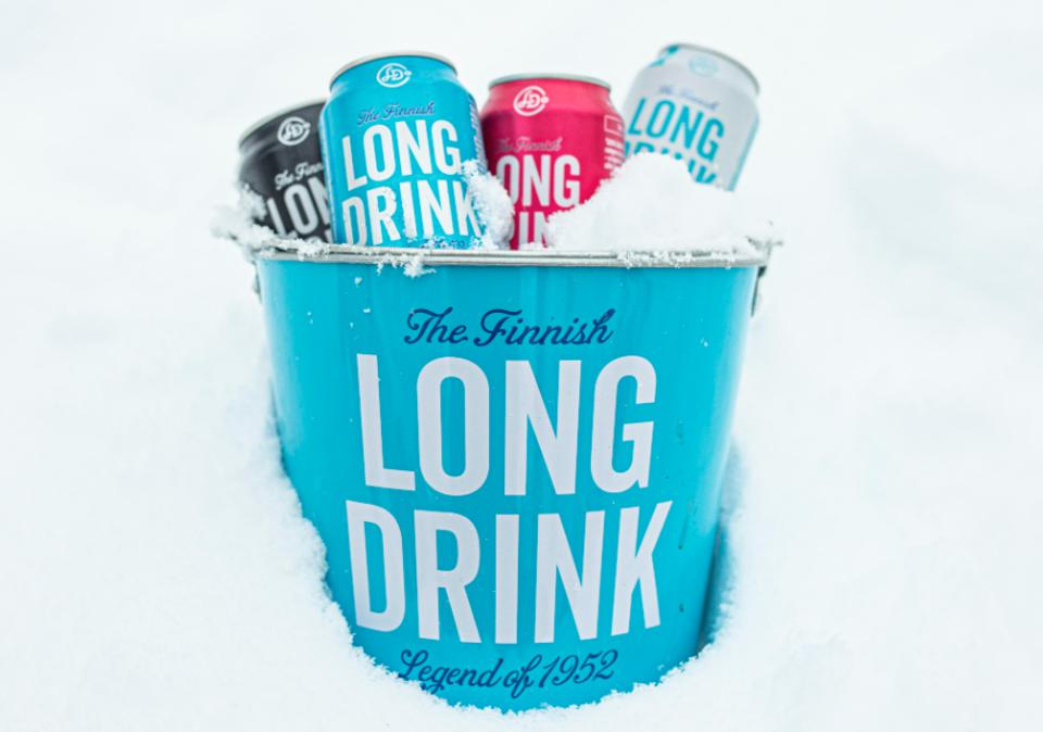 A bucket of ice cold long drinks.