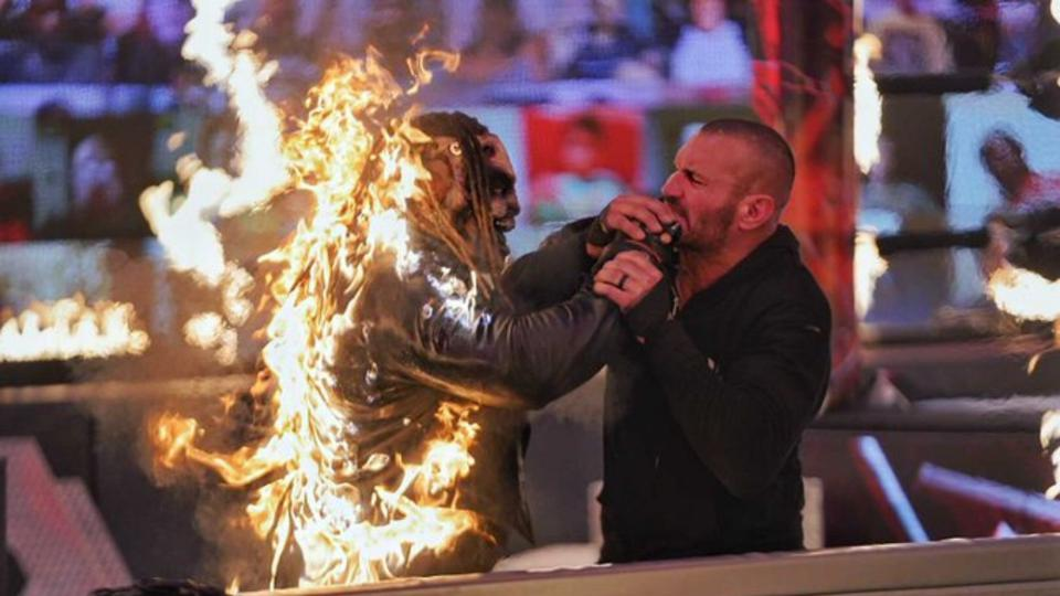 The Fiend returned after being burned by Randy Orton.