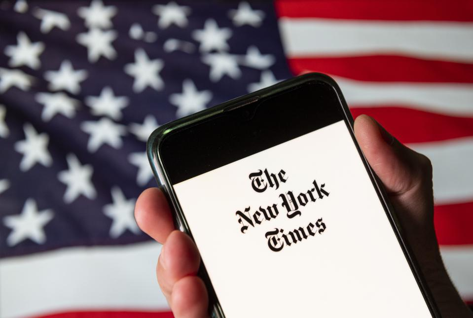 In this photo illustration the American newspaper The New...