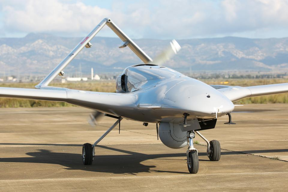 Turkey's first military drone lands in Northern Cyprus