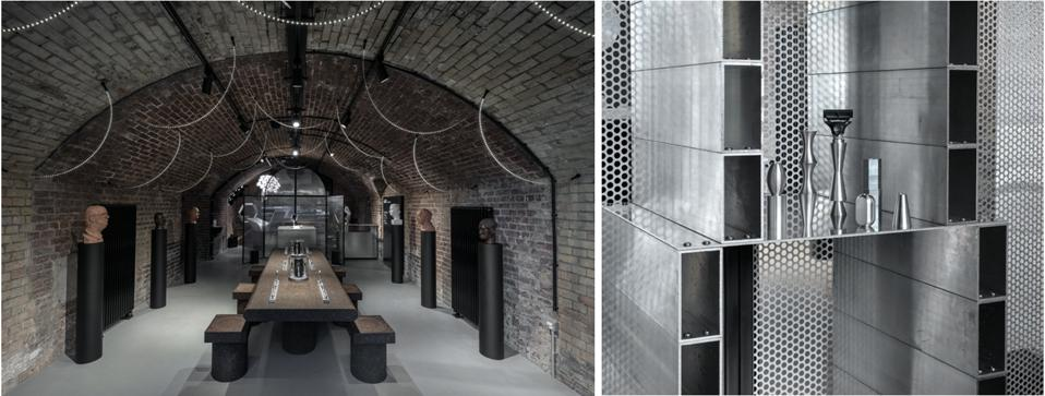 Harry's Men Care Pop-Up Collaboration with Tom Dixon at the London Design Festival with a cathedral-like environment and razors that look like sculptures