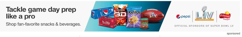 PepsiCo sponsoring ads on Target.com when searching for the term ″snacks.″
