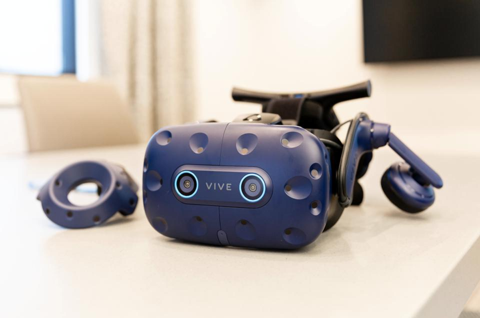 A pair of VR goggles.