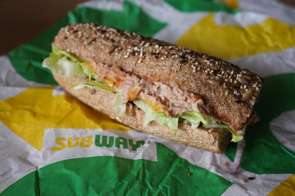 Subway tuna fast food restaurant