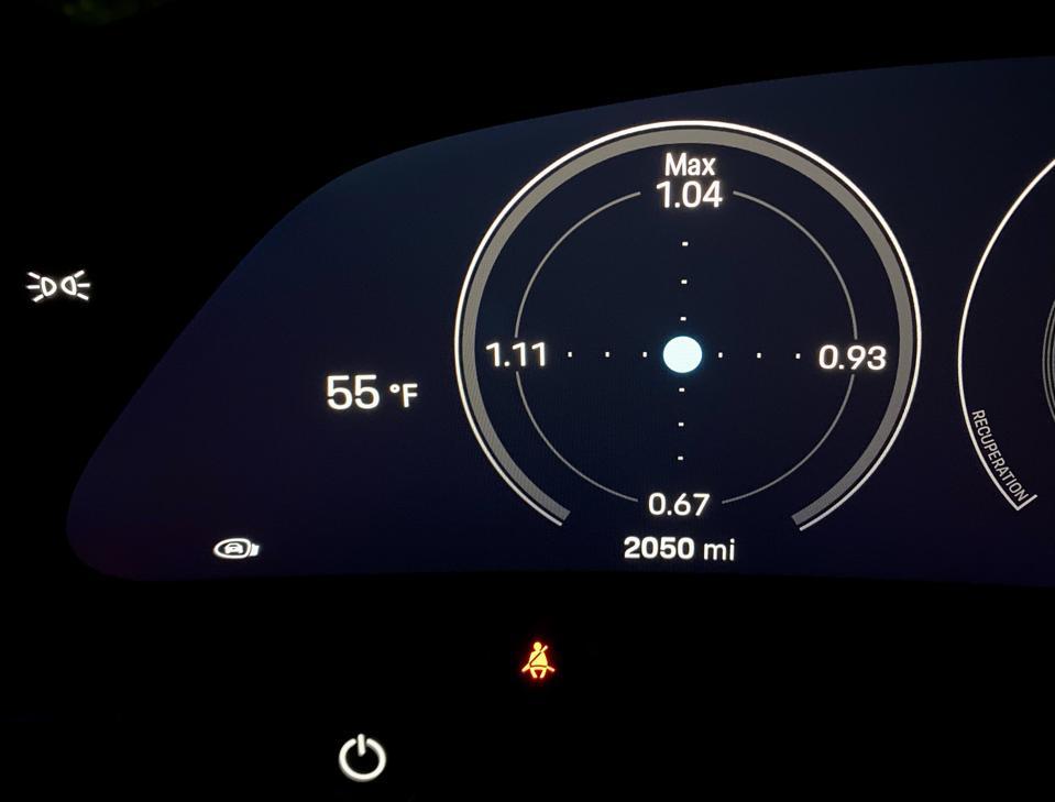 G-meter readouts in the primary gauge pod.